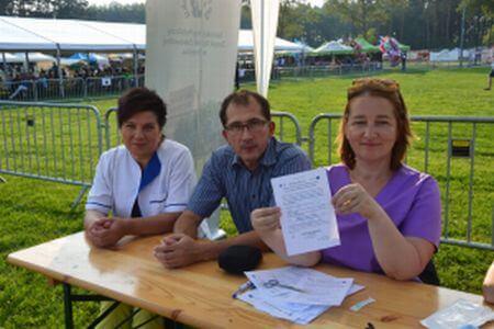 Pracownicy brzeskiego szpitala promowali projekt między innymi podczas Dni Borzęcina